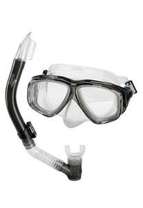 Speedo Adult Recreation Mask/Snorkel Set, Smoke, One Size