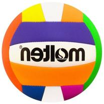 Molten Recreational Beach Volleyball, Neon Multicolor