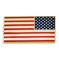 PinMart's Official Rectangle American Flag USA Lapel Pin