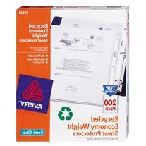 ** Top-Load Recycled Polypropylene Sheet Protector, Clear,