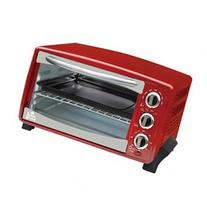 Kings Brand Red 6-Slice Toaster Oven- Toasts Bakes Broils