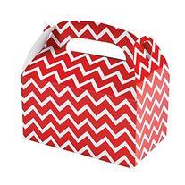 "Red Chevron Treat Boxes  Paper. 6"" X 3 3/4"" X 6"