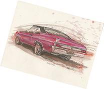 Red Chevy Nova SS