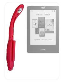 DURAGADGET Red Clip on LED eReader Viewing Light For Kobo
