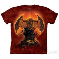 The Mountain Red 100% Cotton Harbinger Of Fire Novelty T-