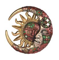 George S. Chen Imports Red Cracked Mosaic Crescent Moon &