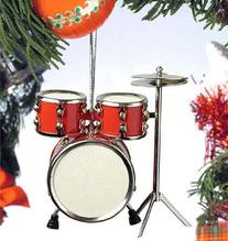 Red Drum Set Hanging Ornament Music Musical Instrument