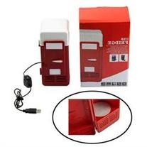 RED PC Fridge Beverage Mini USB Drink Cans Cooler & Warmer