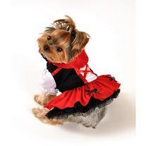Red Hood Dress Dog Costume Size: Large