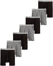 Hanes Men's 7-Pack Boxer Brief, Black/Grey, Medium