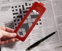 Red Leather Bookmark Magnifier