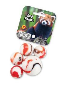 Red Panda Game Net Set 25 Piece Glass Mega Marbles
