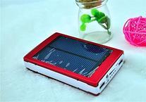happyliya® Hot Sale New Red 30000mAh Solar Power Bank