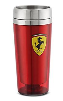 Ferrari Red Stainless Steel Travel Mug w/ Shield Logo
