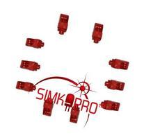10 Pack RED ONLY Super Bright Finger Flashlights - LED