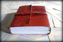 Red Vintage Leather Journal Notebook Diary gifts for men