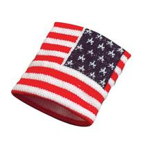 Red White & Blue American Flag Wristband