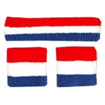 Red/White/Blue Sweatbands Set