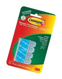 Command Outdoor Refill Strips Small White 16 Strips
