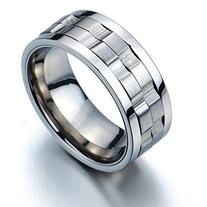 Refined Style Stainless Steel Spinner Unisex Ring Man Ring