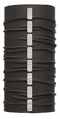 Buff Unisex Reflective Buff Warm Headband O/S, Black
