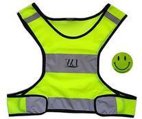 LW Reflective Running Vest Biking Cycling Walking Yellow