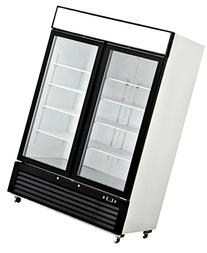 55 Inch Refrigerator Double Glass Door Showcase Reach-in