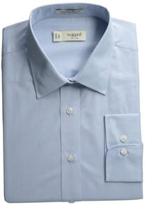 Haggar Men's Regular Fit Poplin Solid Long Sleeve Dress