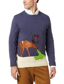 Alex Stevens Men's Reindeer Hangover, Stone/Uniform, Large
