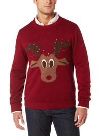 Alex Stevens Men's Reindeer Lights, Rugby Red, XX-Large