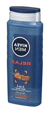 NIVEA MEN Relax 3-in-1 Body Wash Shower Gel, 16.9 oz Bottle