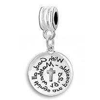 """With God All Things Are Possible"" Religious Charm Bead"