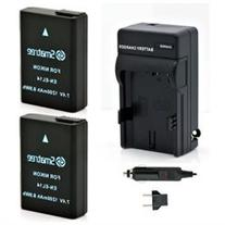 Smatree Replacement Battery for En-EL14 and Charger for
