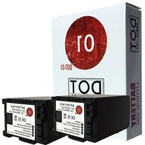 2x DOT-01 Brand 2900 mAh Replacement Canon BP-828 Batteries
