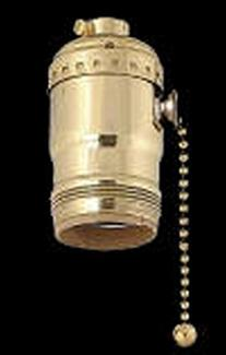 Replacement Uno Lamp Socket with Pull Chain