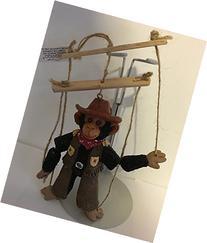 "Aurora Resin Monkey 4.25"" Marionette Ornament 09256"