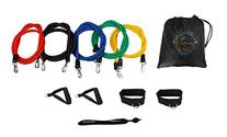Bespolitan Set of 5 Resistance Bands for ABS Yoga P90X