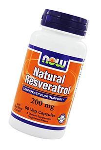 NOW Foods Natural Resveratrol -- 200 mg - 60 Vegetarian Capsules