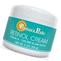 Retinol Cream 2 oz - Vitamin A 100,000 IU per oz