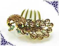 Retro colorful hair jewelry, antique vintage alloy