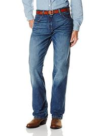 Wrangler Men's Retro Mid Rise Relaxed Fit Boot Cut Jean,True