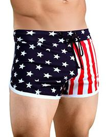 Men's American Flag Retro Running Short Small