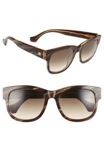 Women's Balenciaga Paris 54Mm Retro Sunglasses - Brown Horn