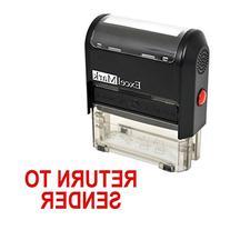 RETURN TO SENDER Self Inking Rubber Stamp - Red Ink