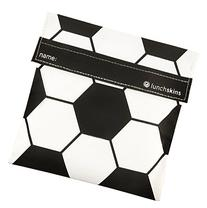 Lunchskins Reusable Velcro Sandwich Bag, Black Soccer