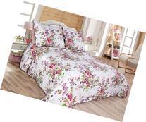 3-piece Reversible coverlet, Quilt Set, bedpread, Full-Queen