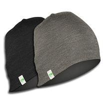 Minus33 Merino Wool Reversible Shade Beanie, Black/Charcoal