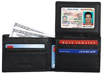 RFID Blocking Leather Wallet for Men - Excellent Credit Card