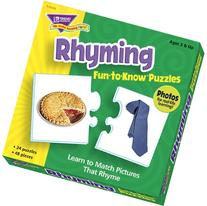 Trend Enterprises Rhyming Fun to Know Puzzles