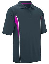 Augusta Men's Rib Knit Collar Jersey, SILVER/Power Pink/